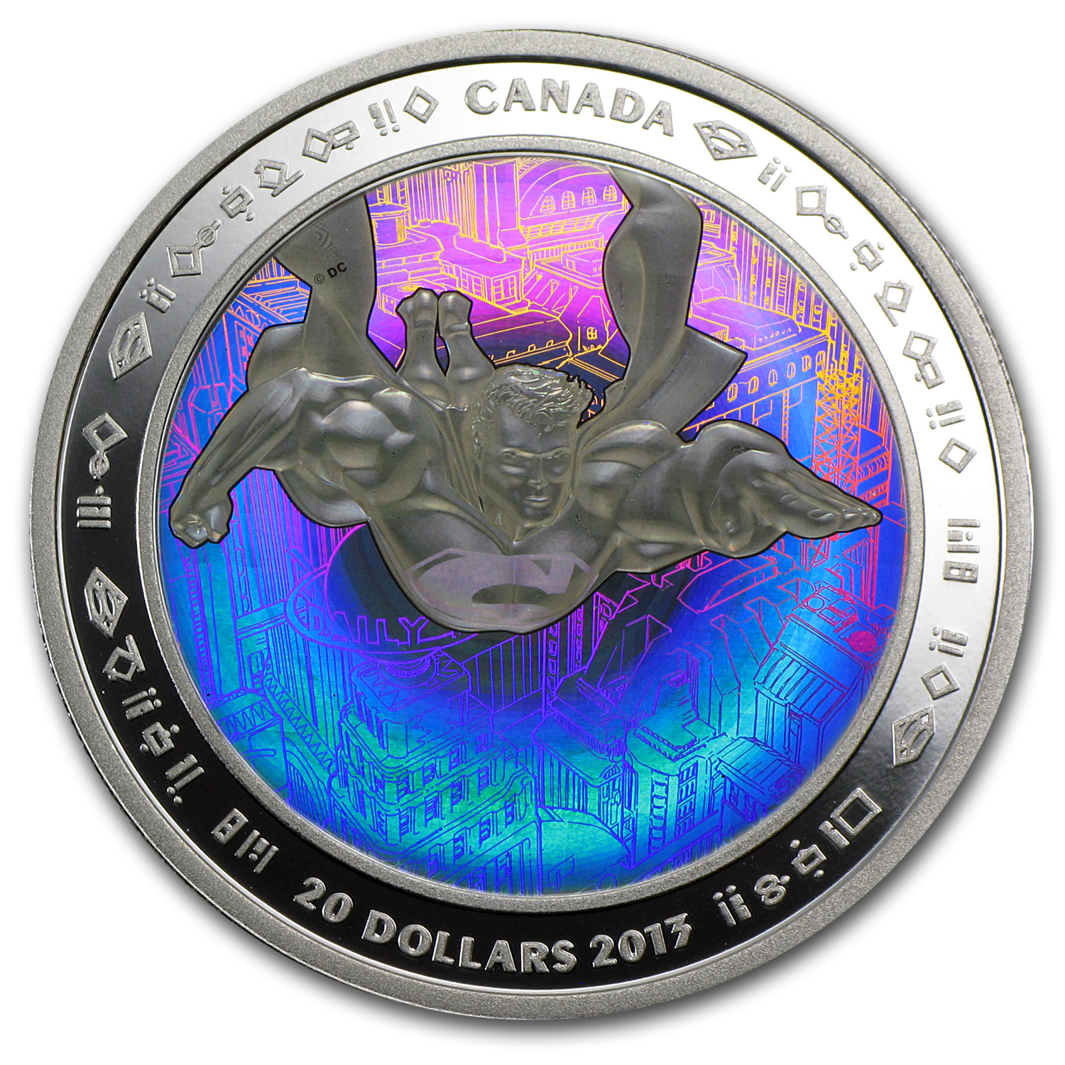 2013 Canada 1 oz Silver 75th Anniv. of Superman™ Metropolis